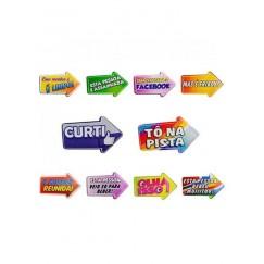 Placas Divertidas Frases Variadas embalagem com 10 placas