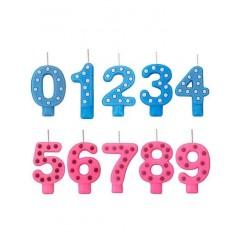 Velas Números Decorados