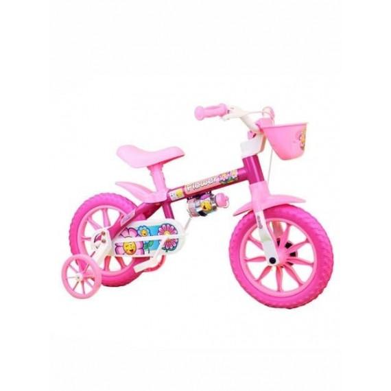 Bicicleta Infantil Nathor Feminina Flower Aro 12