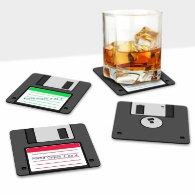Porta copos disquete