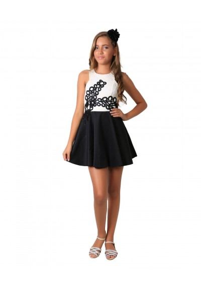 Vestido Black and White