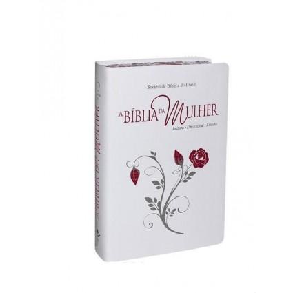 BÍBLIA DA MULHER - CAPA BRANCA GRANDE